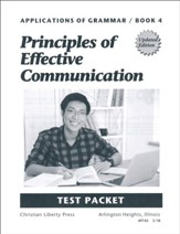 Applications of Grammar Book 4: Principles of Effective  Communication Test Packet (2nd Edition)