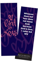 God is Love, 1 John 4:8 Bookmarks, Pack of 25