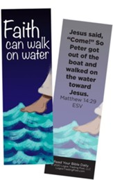 Faith Can Walk on Water, Matthew 14:29 Bookmarks, Pack of 25