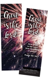 Great is the Lord, Psalm 48:1 Bookmarks, Pack of 25