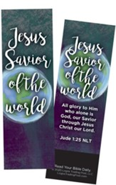 Jesus Savior of the World, Jude 1:25 Bookmarks, Pack of 25