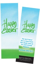 Happy Easter, Matthew 28:6,Bookmarks, Pack of 25