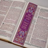 Be Still and Know, Psalm 46:10, Carpet Bookmark, Purple