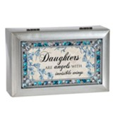 Daughters are Angels With Invisible Wings, Jeweled Silver Music Box