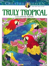 Truly Tropical Coloring Book