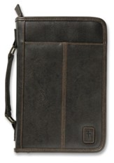 Aviator Style Bible Cover with Handle, Brown, Extra Large