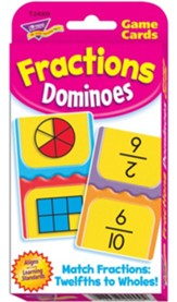 Fraction Dominoes Game Cards