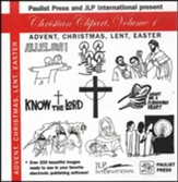 Christian Clipart I: Advent, Christmas, Lent, Easter