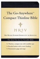 NRSV Go-Anywhere Compact Thinline  Bible with Apocrypha bonded leather, navy blue