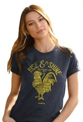 Rise And Shine Shirt, Denim Heather, X-Large