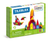 Magformers Rainbow Tiles, 42 Piece Set