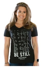 Be Still Shirt, Women's Cut, Small