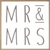 Mr. and Mrs. Framed Word Art
