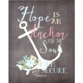 Hope Anchors Wall Plaque