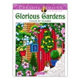Glorious Gardens Color by Number Coloring Book