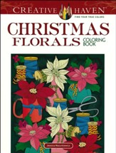 Christmas Florals Coloring Book