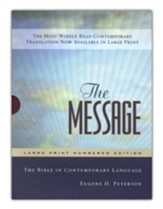 The Message Bible: Large Print Edition, Burgundy Leather-look