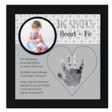 Big Sister's Heart & Me Photo Frame
