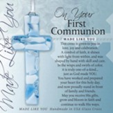 On Your First Communion Mosaic Cross, Blue