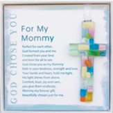 God Chose You For My Mommy Cross Ornament