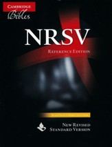 NRSV Reference Bible: Black French  Morocco Leather