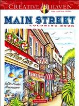 Creative Haven Main Street Coloring Book