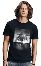 Rooted Tree Shirt, Black, Large