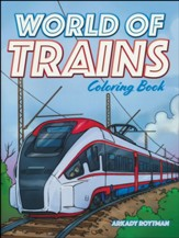 World of Trains Coloring Book