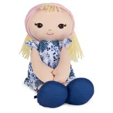 Soft Toddler Doll, Blue Floral Dress