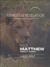 Matthew Participant Book, Large Print (Genesis to Revelation Series)