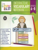Interactive Vocabulary Notebook,  Grades 6-8