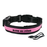 Bless My Paws LED Dog Collar, Pink, Medium