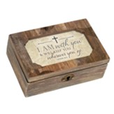 I Am With You and Will Keep You Wherever You Go Petite Music Box with Locket