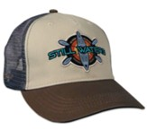 Still Waters Cap, Mesh Back, Tan/Blue