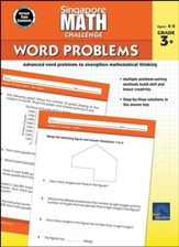 Singapore Math Challenge Word  Problems, Grades 3 - 5