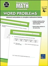Singapore Math Challenge Word  Problems, Grades 4 - 6