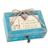 Welcome to the World Little One, Petite Music Box with Locket