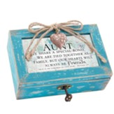 Aunt We Share A Special Bond, Petite Music Box with Locket