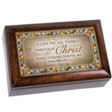 I Can Do All Things Through Christ Petite Jeweled Music Box
