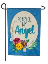 Forever My Angel Applique Flag, Small