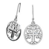 Tree Of Life Earrings, Sterling Silver