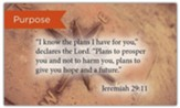 Scripture Cards, Purpose, Jeremiah 29:11, Pack 25