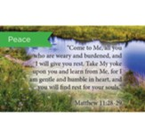 Scripture Cards, Peace, Matt 11:28-29, Pack 25