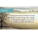 Scripture Cards, Serenity Prayer, Pack 25