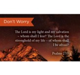 Scripture Cards, Don't Worry, Psalms 27:1, Pack 25