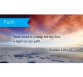 Scripture Cards, Faith, Psalms 119:105, Pack 25