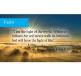 Scripture Cards, Faith, John 8:12, Pack 25
