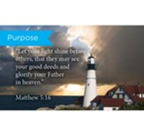 Scripture Cards, Purpose, Matt 5:16, Pack 25