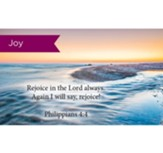 Scripture Cards, Joy, Rejoice Phil 4:4, Pack 25