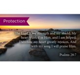 Scripture Cards Protection, Psalms 28:7, Pack 25